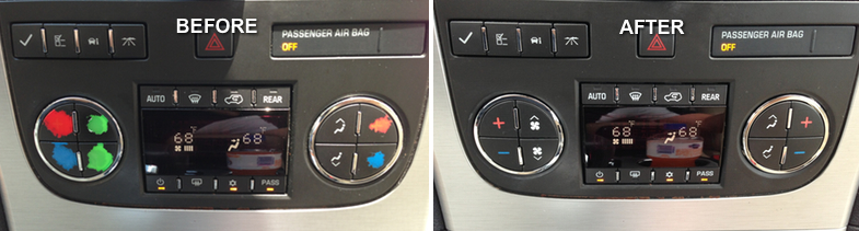 Interior Magic Graphic Button Repair Service